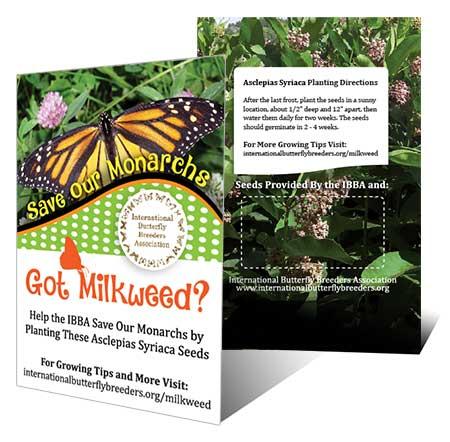 IBBA Milkweed Seed Packet