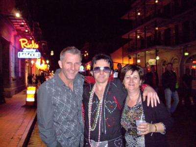 Kim and Jeremy Trafton with The King