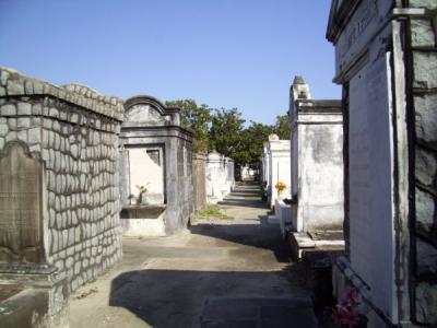 The rows of tombs form little cities of their own.