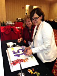 Kathie Balaam and Pam Lee did a fantastic job decorating the cake photo th